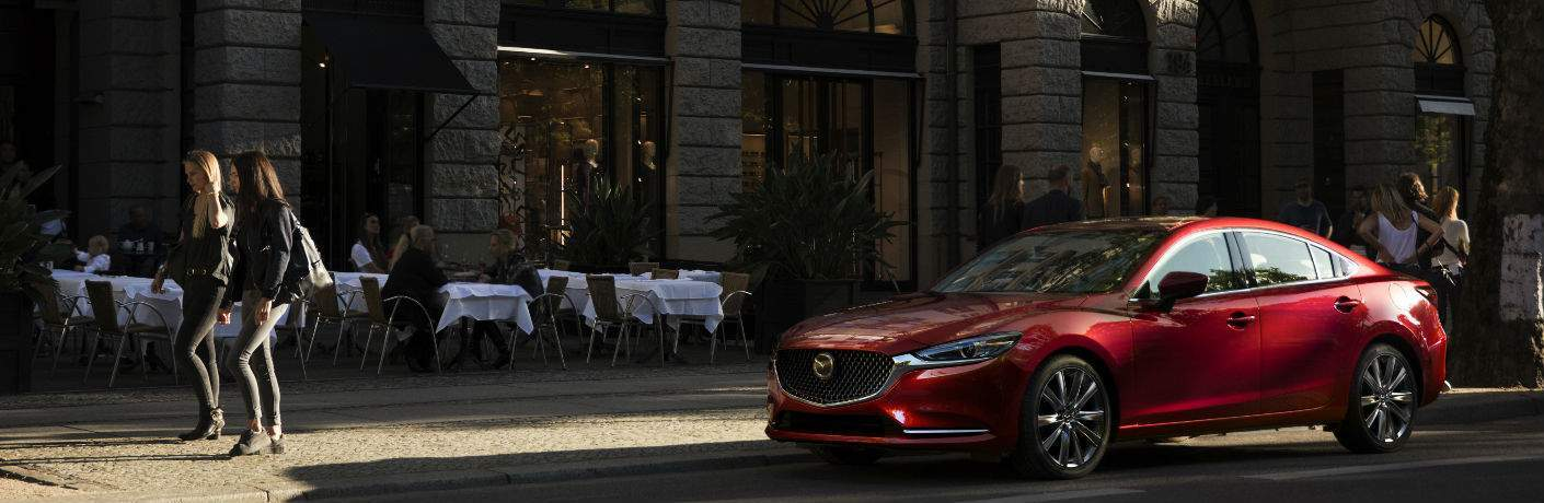2018 Mazda6 Front End and Side View in Red