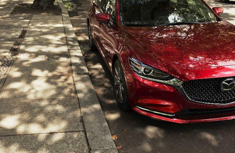 2018 Mazda6 Close Up of Front End in Red Coloring