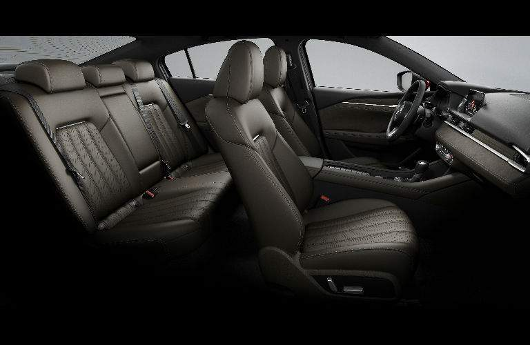 2018 Mazda6 Interior View of Seating in Brown Leather