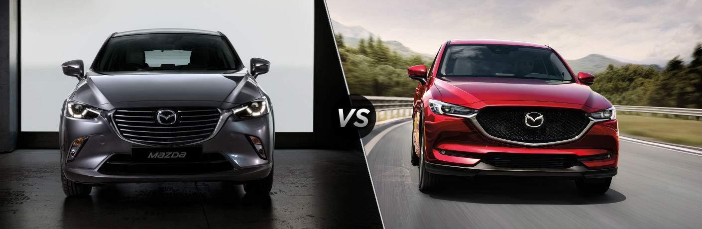 Elegant 2018 Mazda CX 3 In Gray Vs 2017 Mazda CX 5 In Red