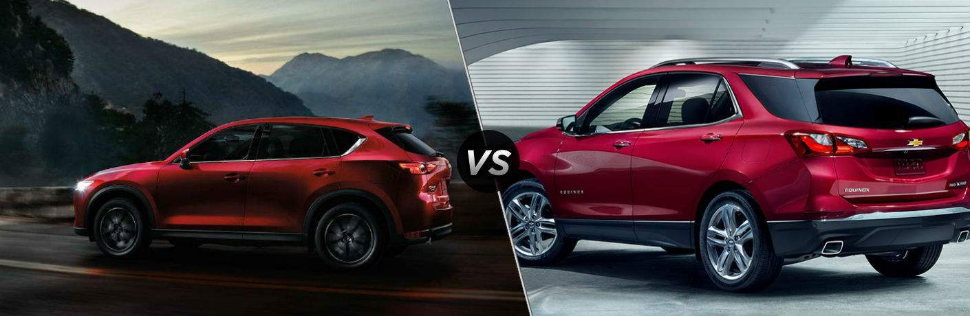 2018 Mazda CX-5 in Red vs 2018 Chevrolet Equinox in Red