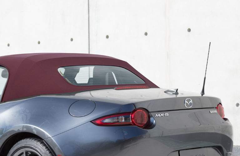 Rear End and Soft Top View of the 2018 Mazda MX-5 Miata