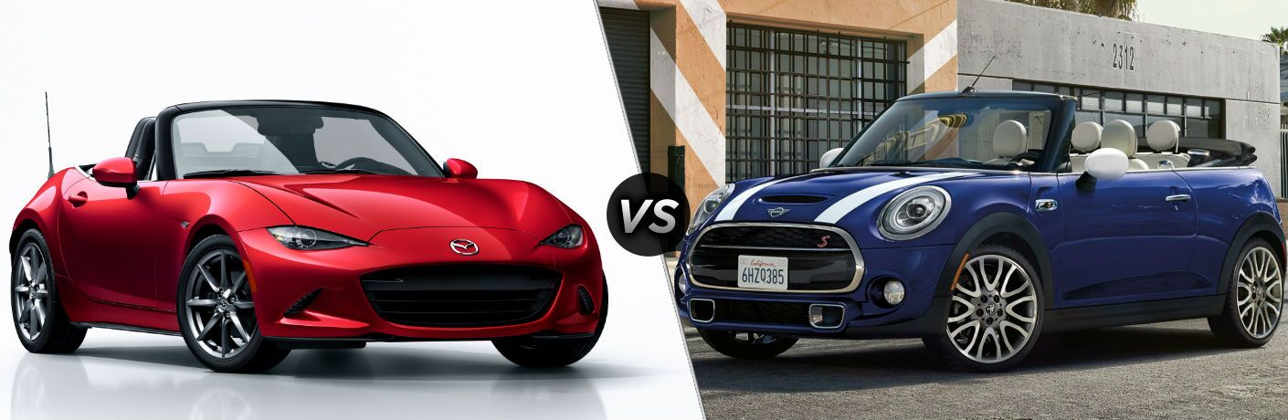 2018 Mazda MX-5 Miata vs 2018 MINI Convertible