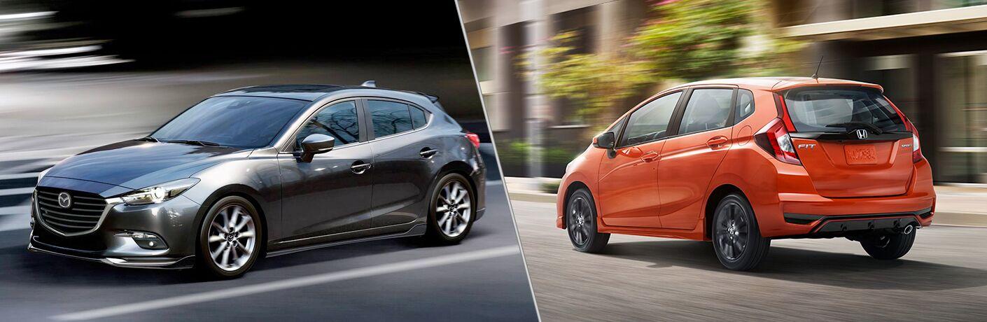 2018 Mazda3 5-Door vs 2019 Honda Fit