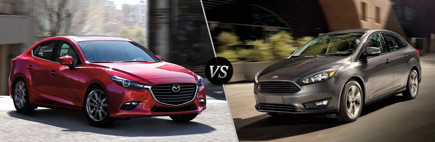 2018 Mazda3 4-Door vs 2018 Ford Focus
