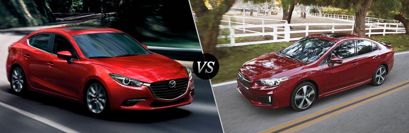 2018 Mazda3 vs 2018 Subaru Impreza