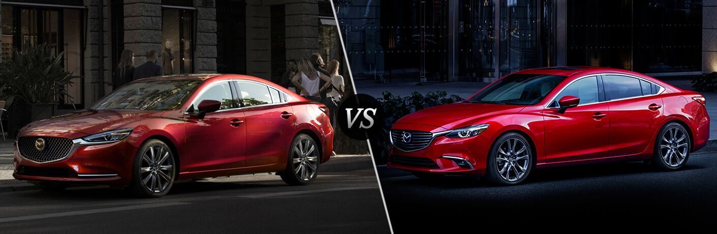 2018 vs 2017 Mazda6, both in red paint colors