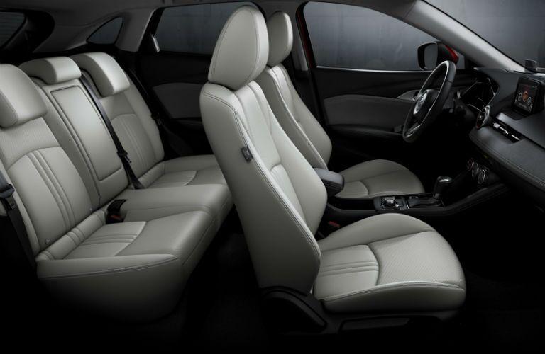 Side view of 2019 Mazda CX-3 interior