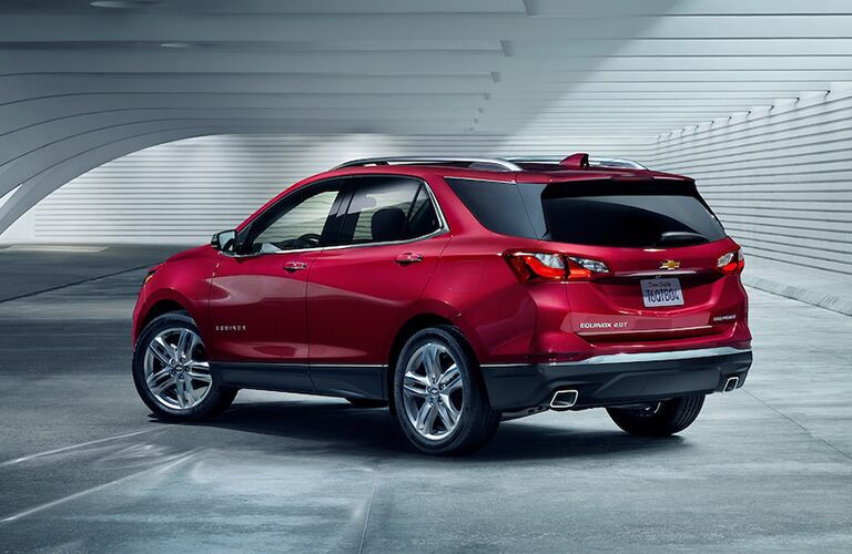 2019 Chevrolet Equinox Rear Diagonal View of Red Exterior