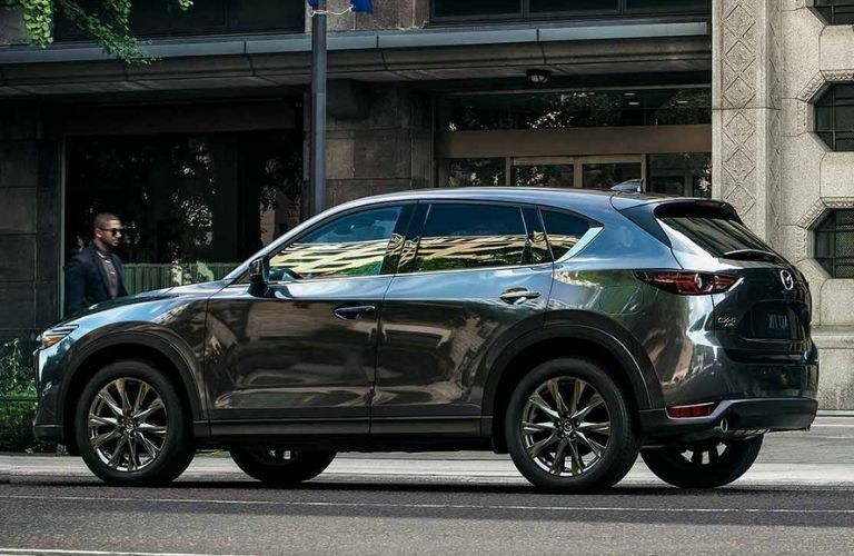 Grey 2019 Mazda CX-5 Signature on road