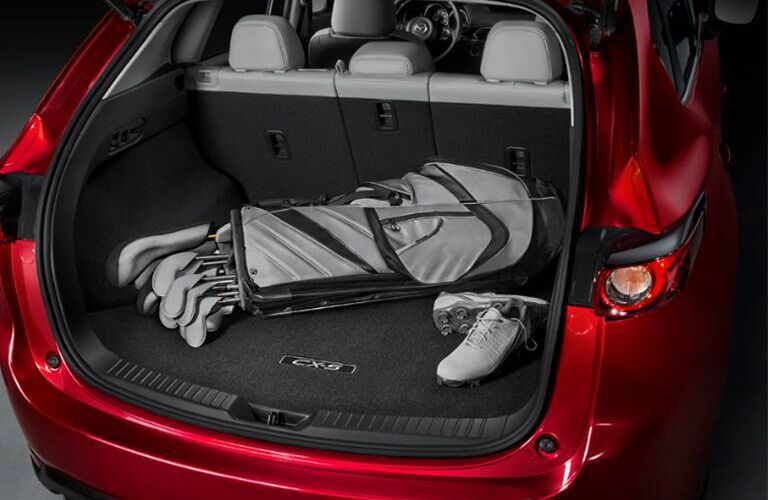 2019 Mazda CX-5 Liftgate Open with Golf Clubs in Trunk