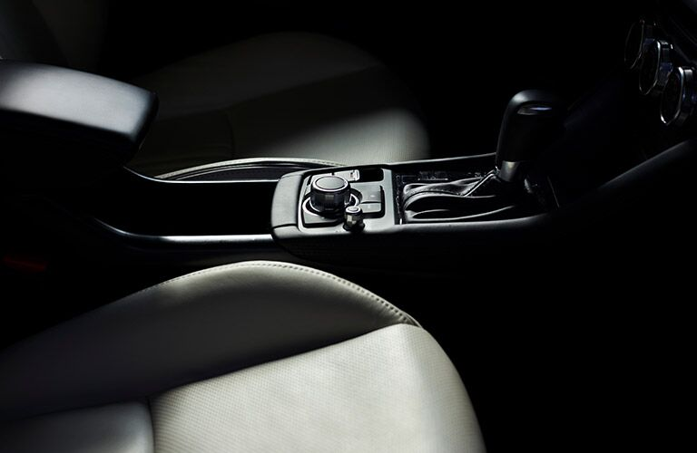 Interior View of Center Console in 2019 Mazda CX-3