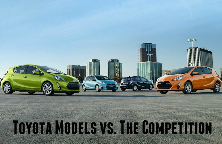 Toyota models vs the competition