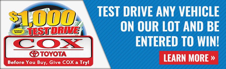 Cox Toyota $1000 Test Drive Contest