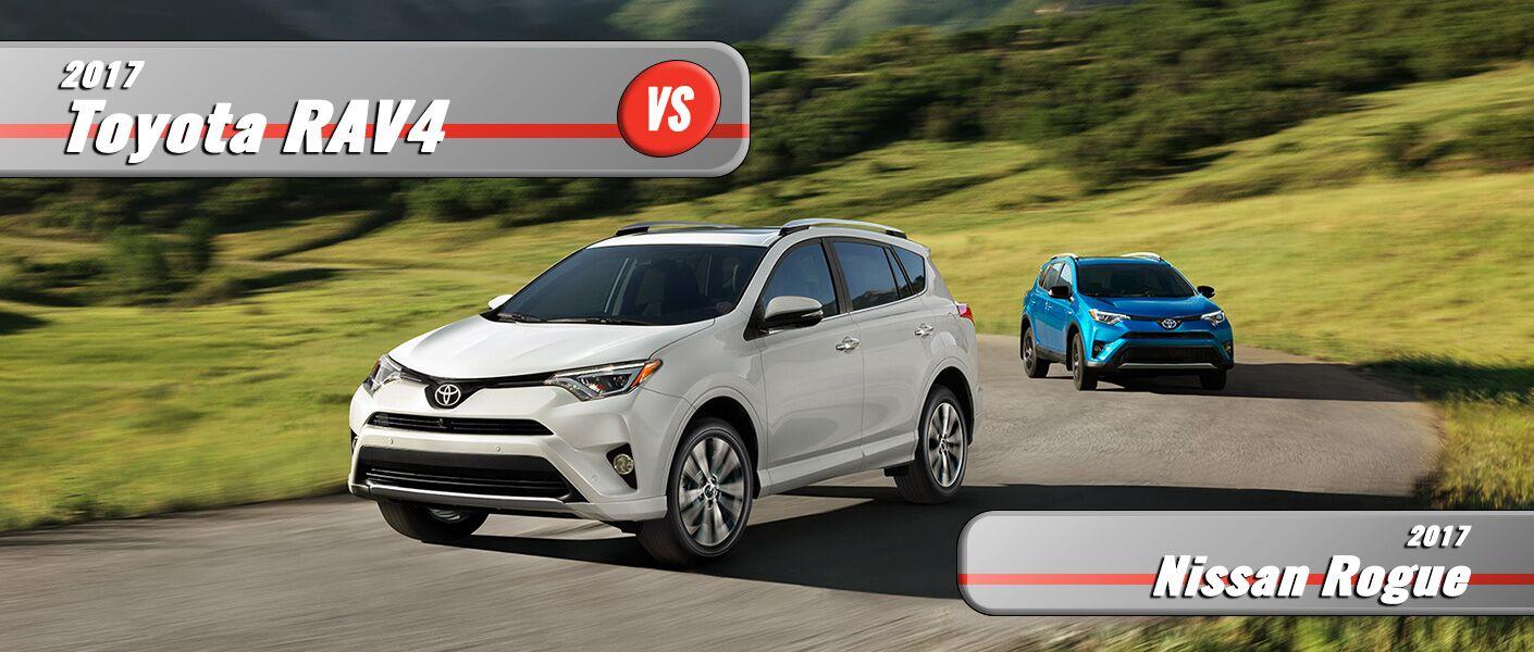 New 2017 Toyota Rav4 vs 2017 Nissan Rogue
