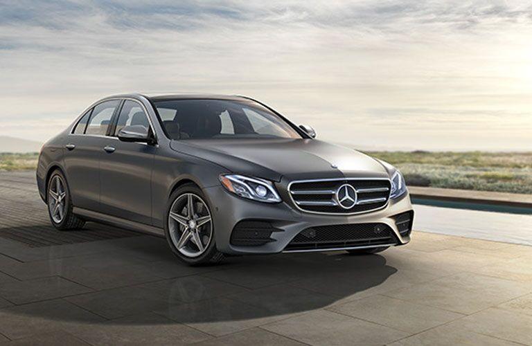 Gray 2017 Mercedes-Benz E-Class in Driveway