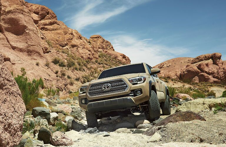 Tacoma off-road in the desert
