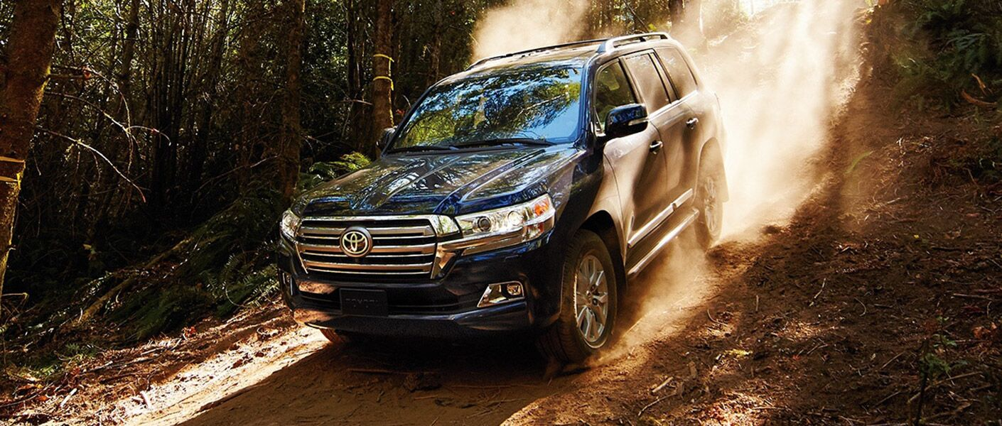 The 2016 Land Cruiser off-roading