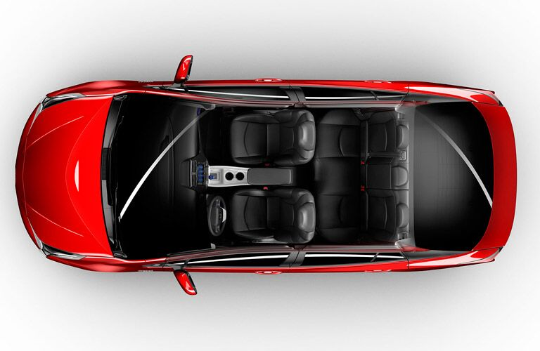 2016 Toyota Prius seating and cargo capacity