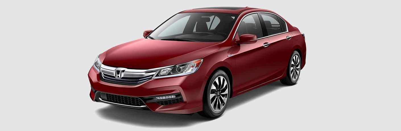 2017 Honda Accord Hybrid in red
