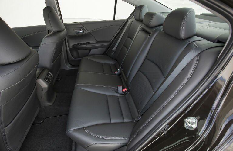 2017 Honda Accord rear interior view.