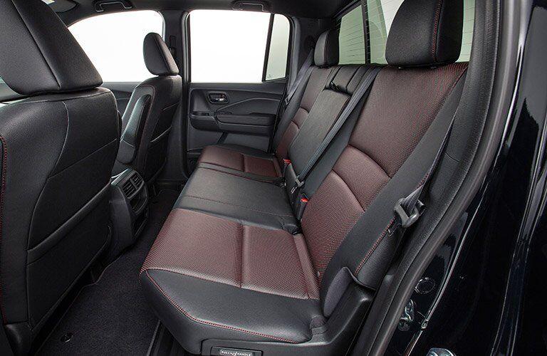2017 Honda Ridgeline rear seat view