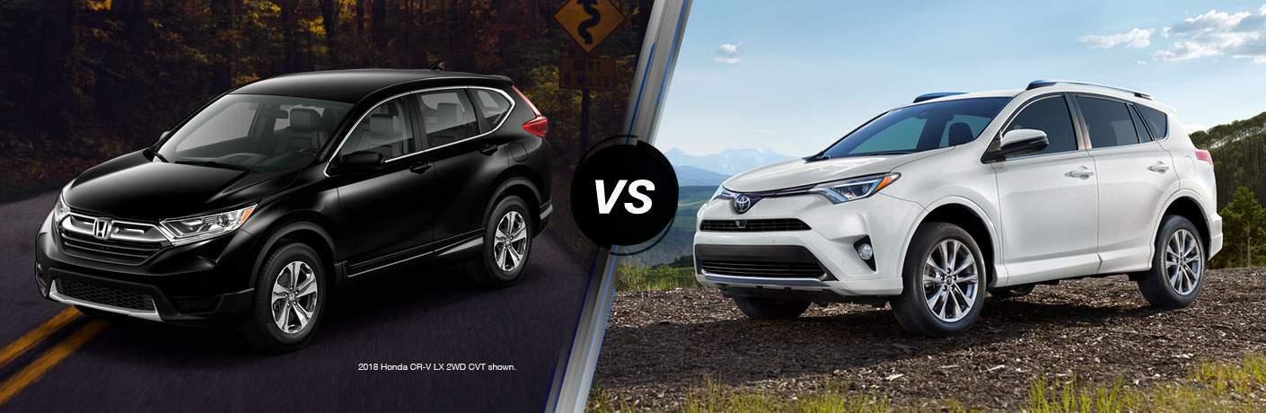 2018 Honda CR-V and 2018 Toyota RAV4 side by side