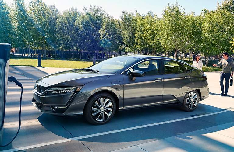 2018 Honda Clarity Plug-in Hybrid in gray at charging parking spot