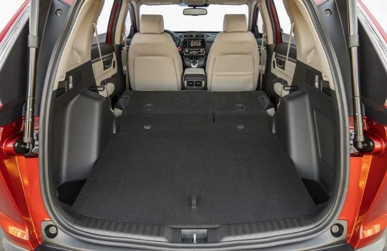 2018 Honda CR-V rear interior with seats folded down