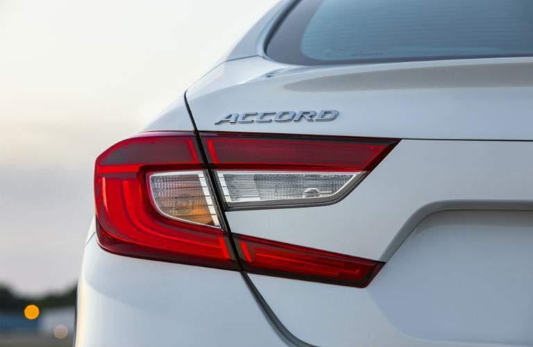 2018 Honda Accord in white badging closeup