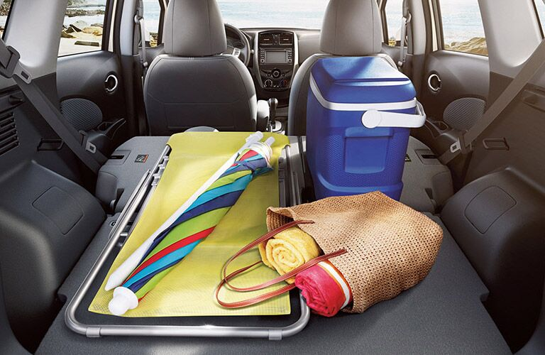 2016 Nissan Versa Note interior cargo space