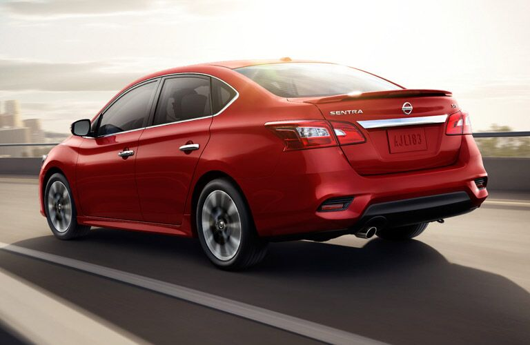 2016 Nissan Sentra exterior rear red