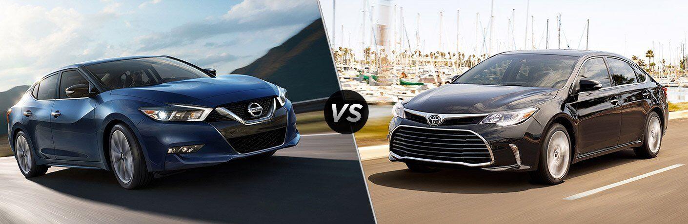 2017 Nissan Maxima 2017 Toyota Avalon exteriors