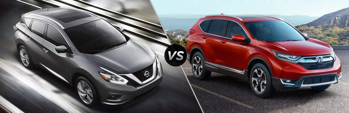 2017 Nissan Murano 2017 Honda CR-V exteriors