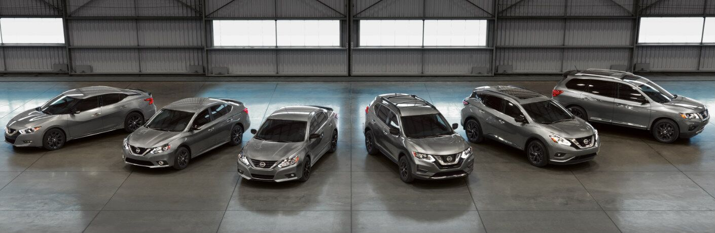 2017 Nissan Midnight Edition models all lined up