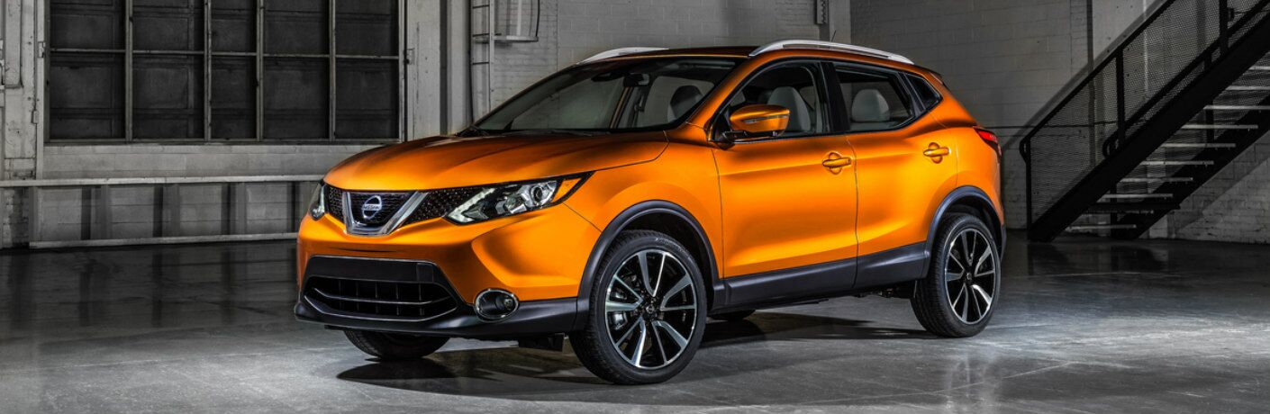 orange 2017 Nissan Rogue Sport exterior front side