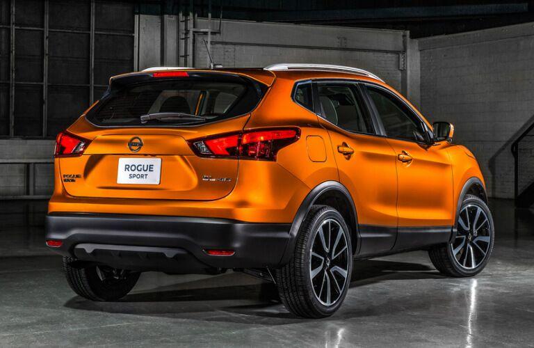 orange 2017 Nissan Rogue Sport exterior rear