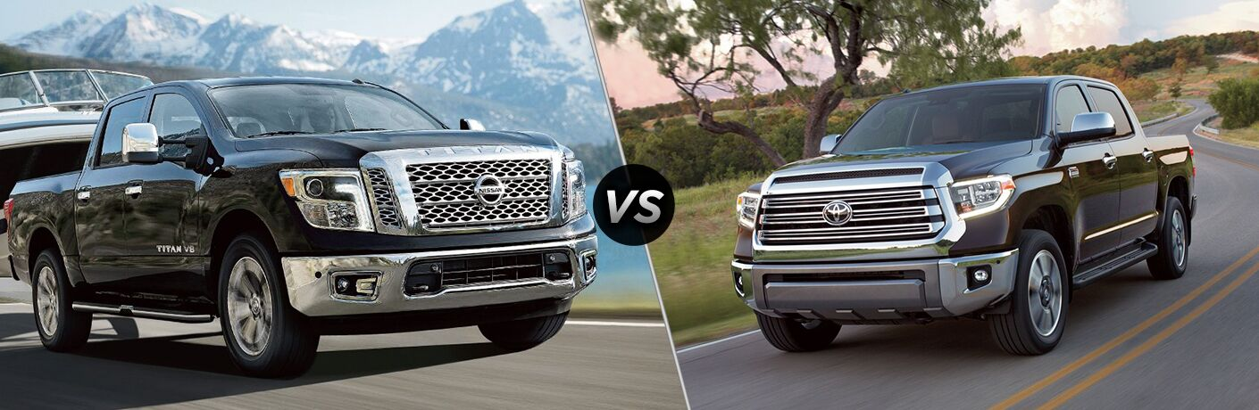 2018 Nissan TITAN towing a boat vs 2018 Nissan Titan driving down country road