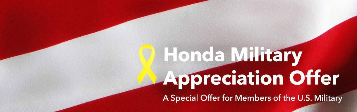 Honda Military Appriciation Offer