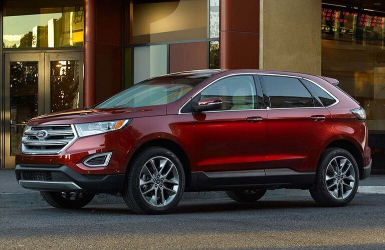 2018 Ford Edge parked in front of a building