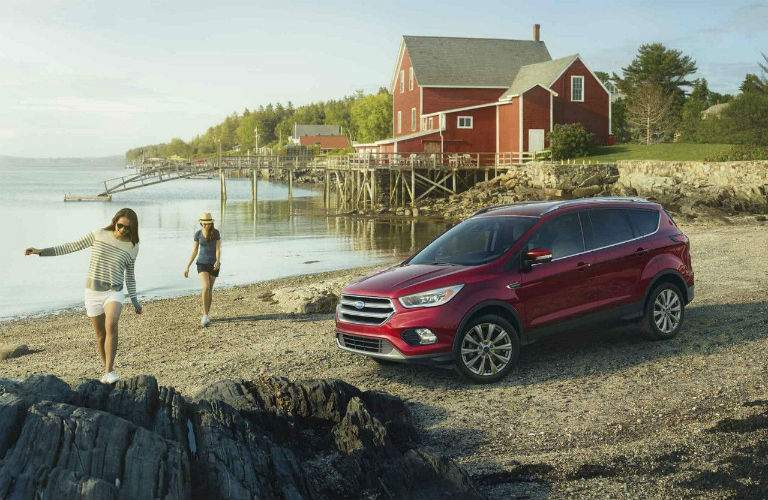 2018 Ford Escape at the beach with two people