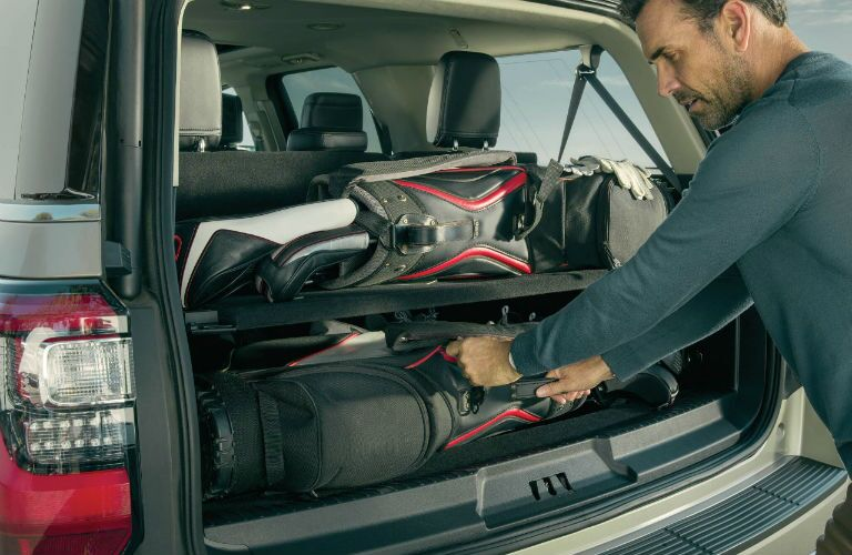2018 Ford Expedition cargo space with available Cargo Management System