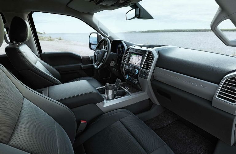 2018 Ford Super Duty front interior with view from passenger side