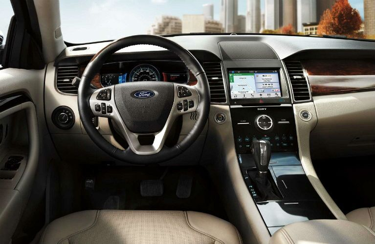 2018 Ford Taurus front, driver-oriented interior
