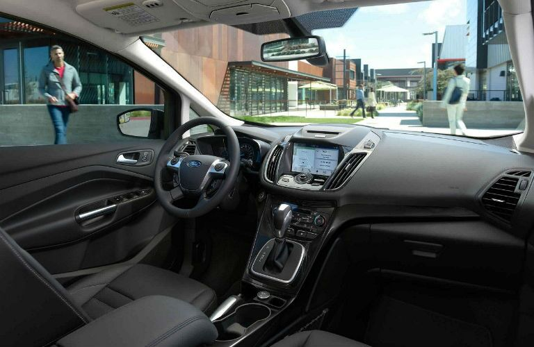 2018 Ford C-MAX Hybrid front interior out looking a campus