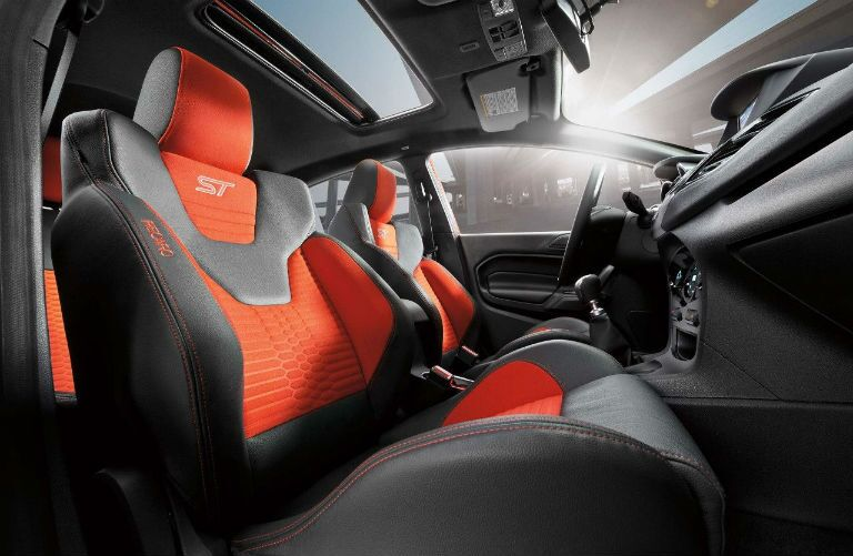 2018 Ford Fiesta ST racing-style interior