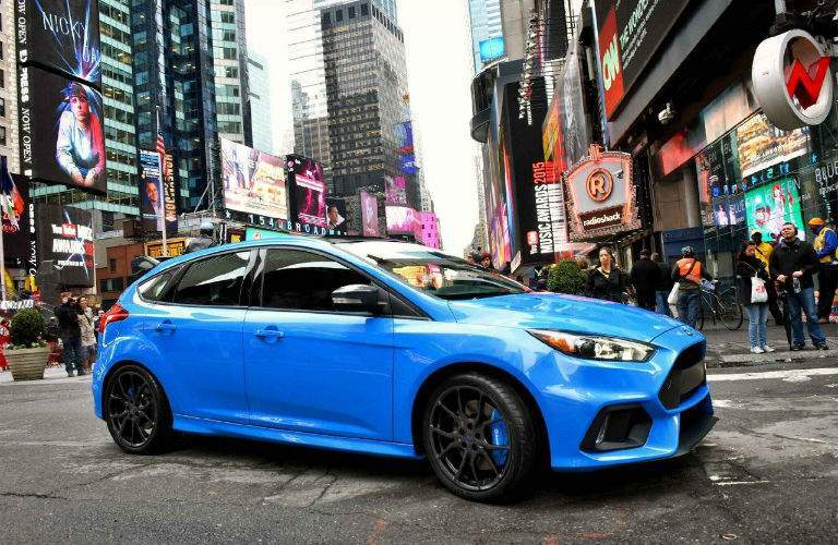 2018 Ford Focus limited-edition RS parked in a busy city