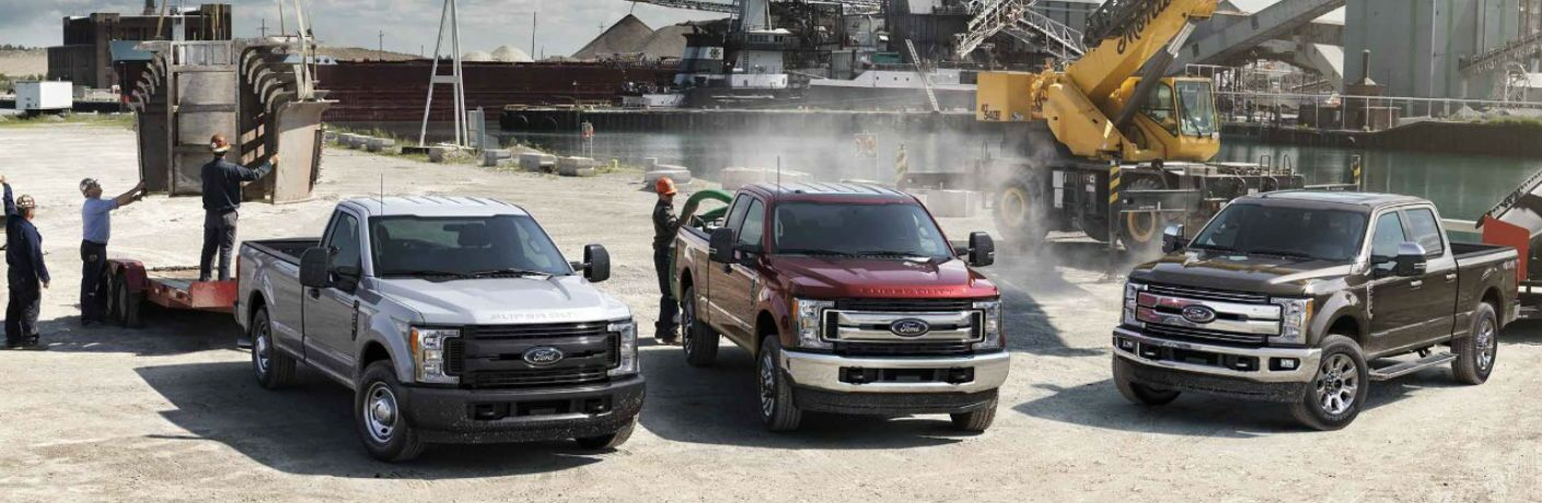 2018 Ford Super Duty trucks available at Beach Ford