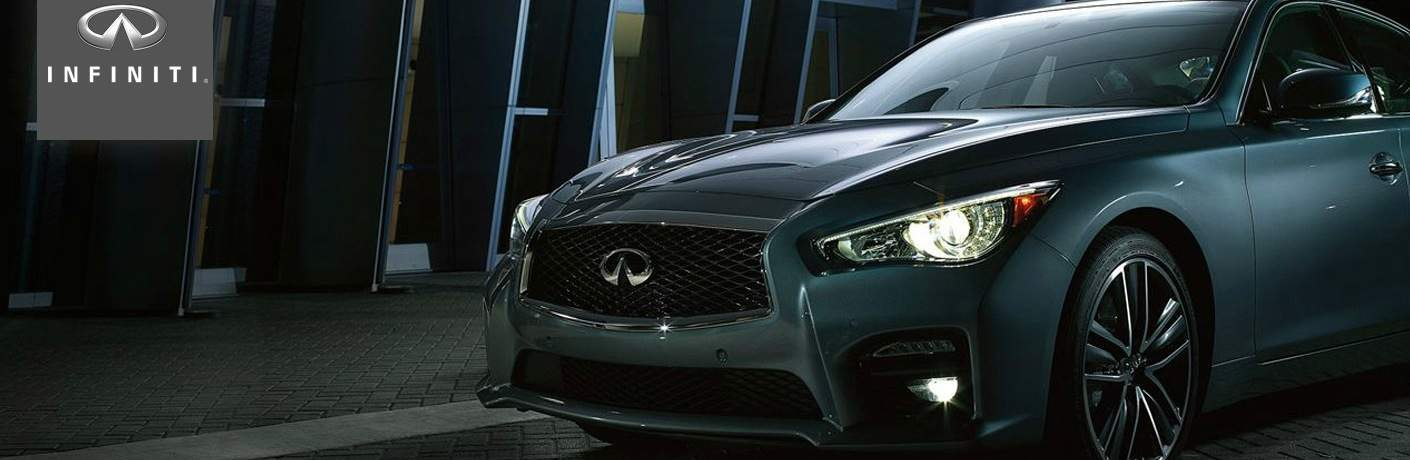 Infiniti Q50 front side view of grille