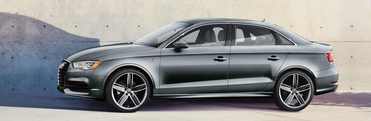 gray Audi A3 side view